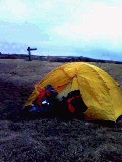 テント泊は楽しいな